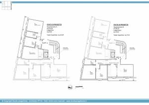 Appartamento A e B - Schema delle piante